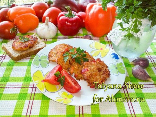 Котлеты с рисом и болгарским перцем