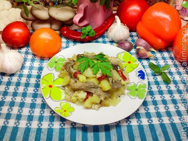 Вешенки с картошкой в духовке