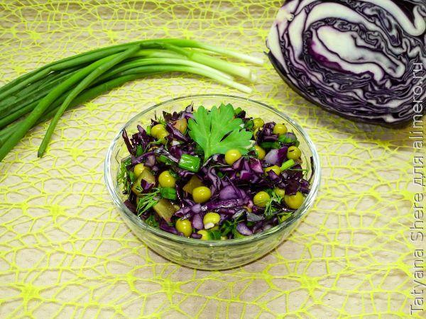 быстрые рецепты салаты из красной капусты