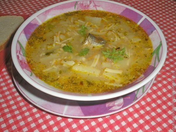 суп рыбный с пшеном из консервов