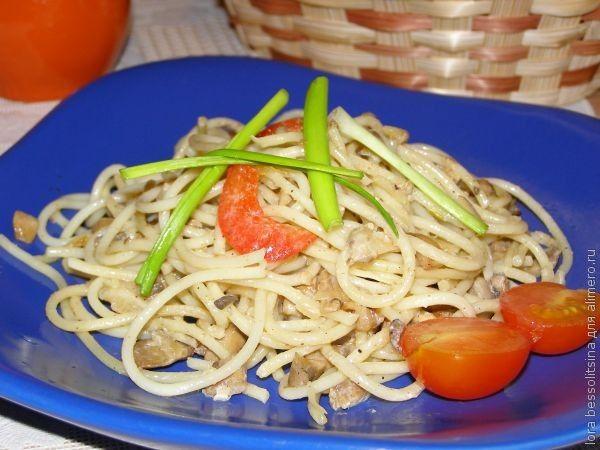 Вторые блюда с шампиньонами рецепты