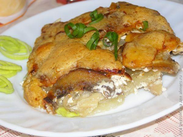рецепт с фото картошки в сметане в духовке рецепт