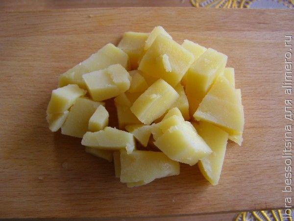 салат с шпротами, картошка
