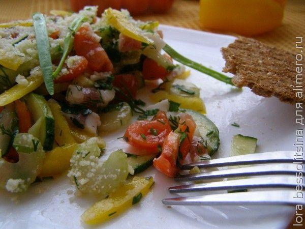 салат с салом