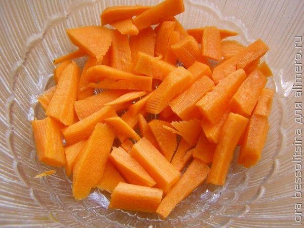 диетический гарнир с грудкой, морковь