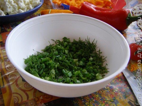 омлет, зелень