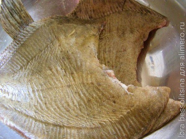 камбала с овощами, очищенная рыба