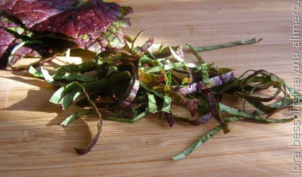 зеленый перекус, лист салата