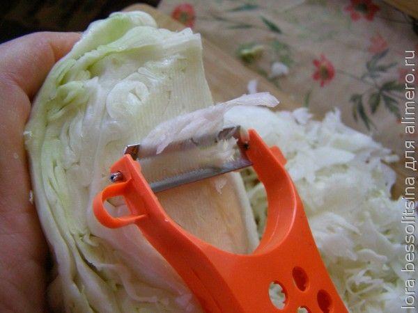 салат с колбасой, капуста