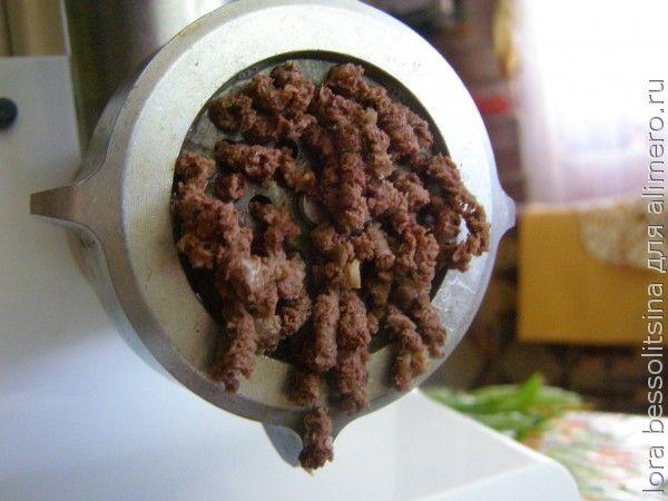 макароны по-флотски с ливером, в мясорубке