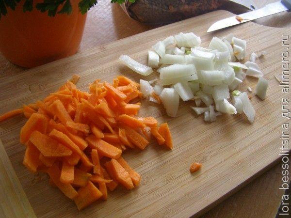 суп диетический, лук и морковь