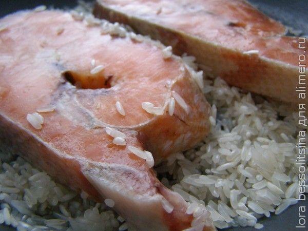 вкусный гарнир к рыбе, рыба на рисе