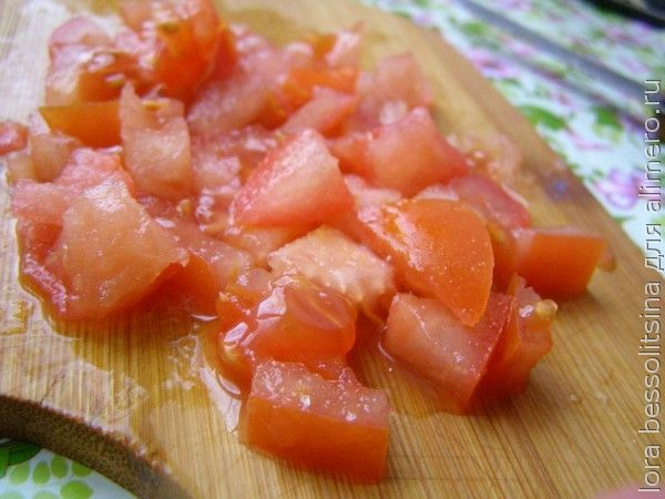 Рагу на рыбном бульоне, помидор