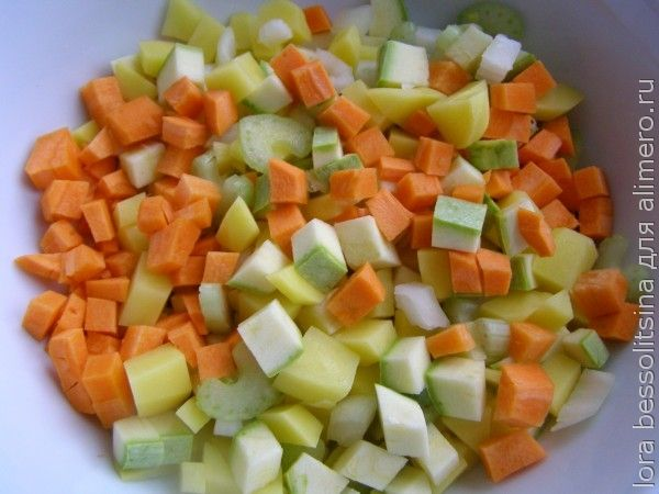 Рагу на рыбном бульоне, морковь