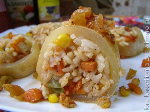 кальмары с овощами в духовке рецепты с фото
