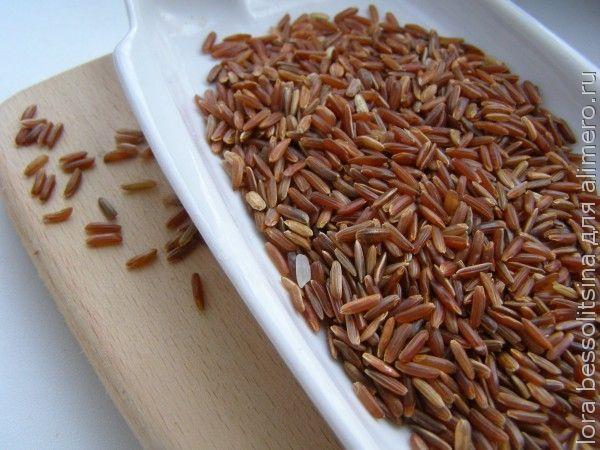 каша из красного риса, рис