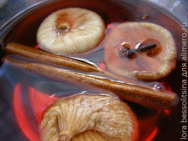 салат на шпажках, инжир в вине