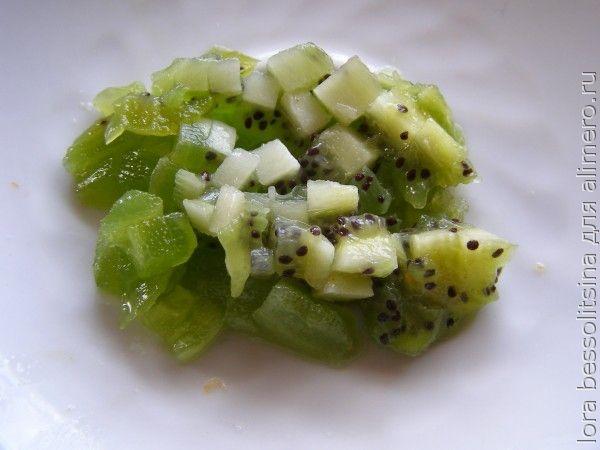 Салат фруктово-овощной, киви