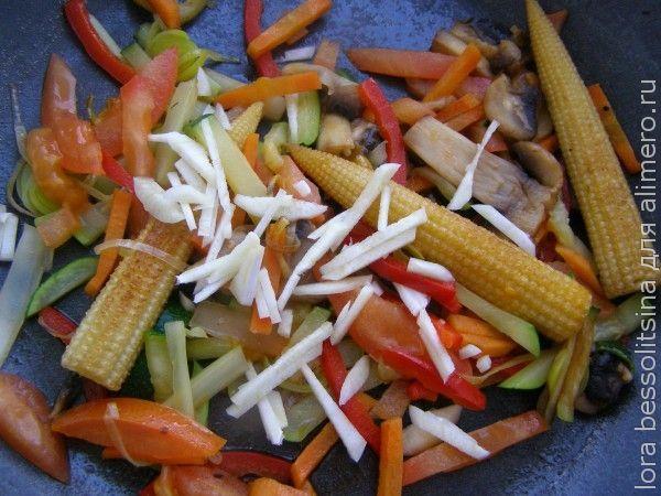 макароны с кукурузой мини, чеснок