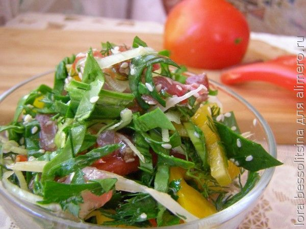 салат с толстолобиком