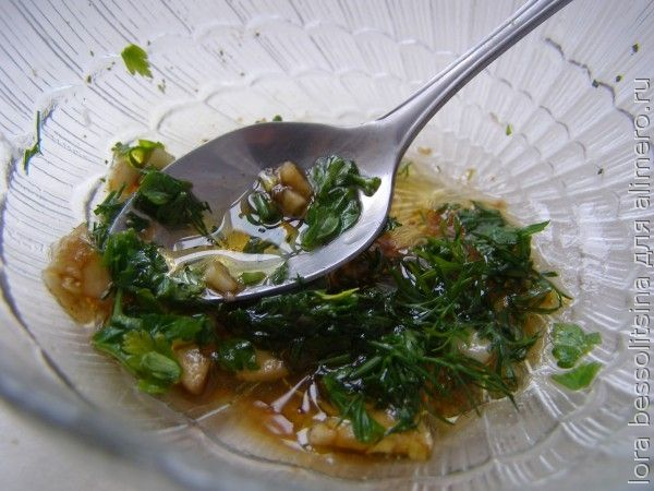 рыба с овощами, соус для овощей