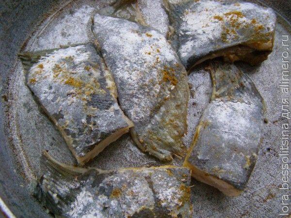 камбала с гречкой, жарим рыбу