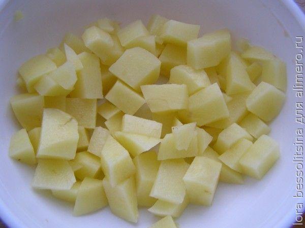 салат с кетой, картошка