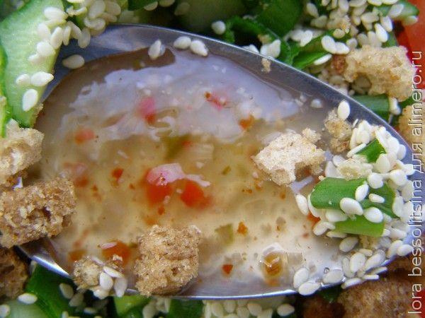 салат великопостный, соус
