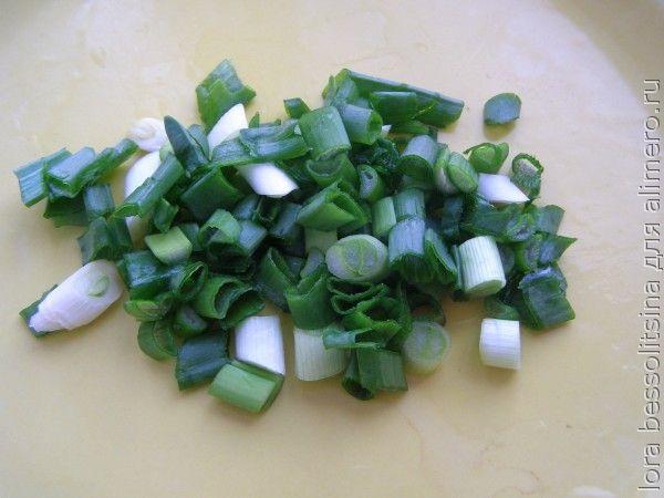 салат великопостный, лук зеленый