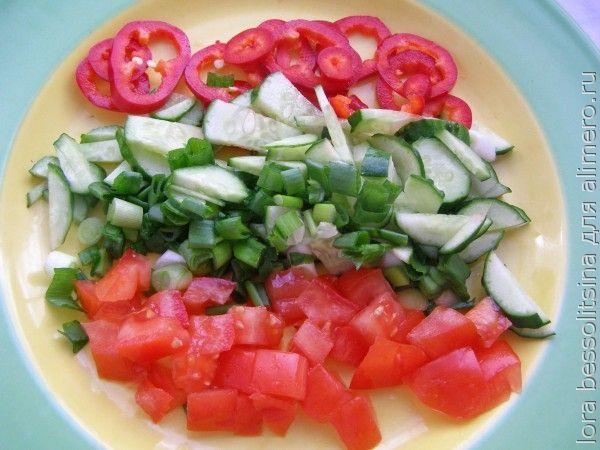 салат великопостный, горка
