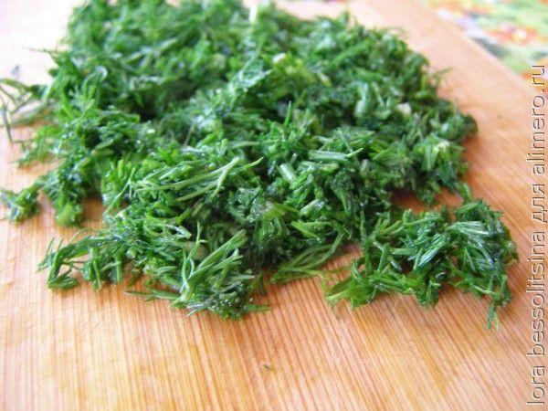 салат-гарнир, зелень