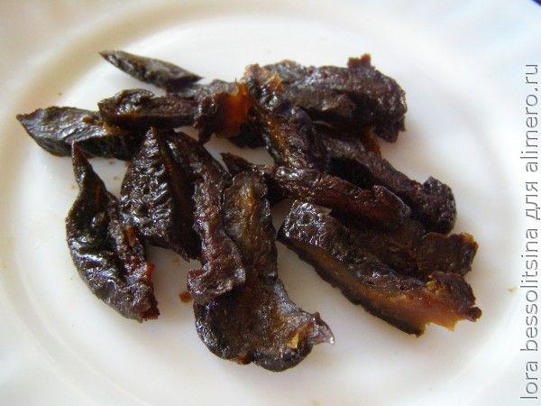 салат-гарнир, чернослив