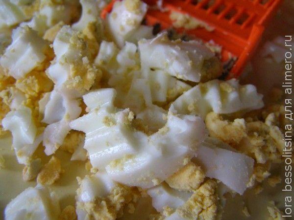 салат-гарнир, яйца