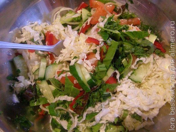 салат очищающий, с заправкой