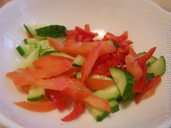 салат очищающий, добавим огурец