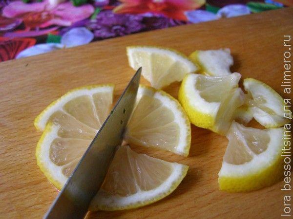 шашлык из семги, лимон