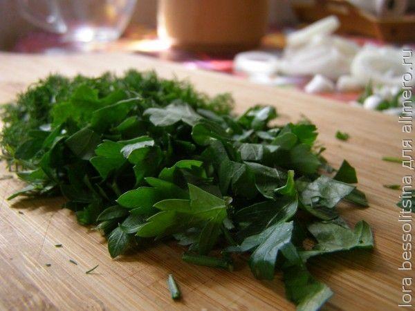 шашлык из семги, зелень
