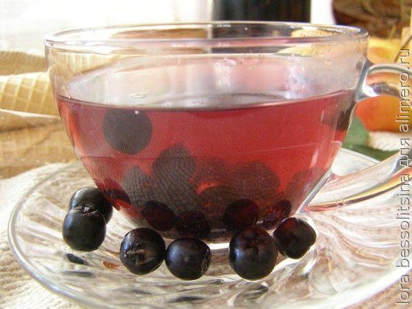 полезные чаи, чай с черноплодной рябиной