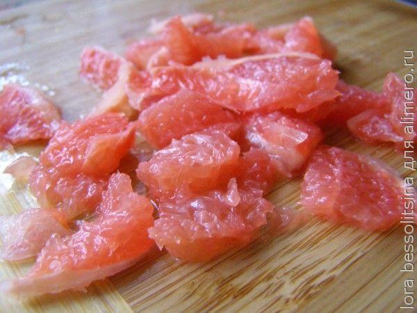 салат с манго, грейпфрут