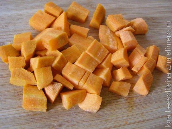 овощное рагу с белым мясом, морковь