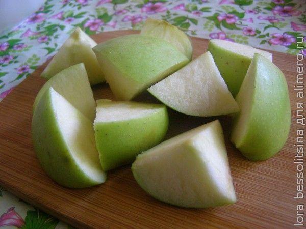 фруктовый шашлык, яблоко