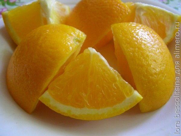 фруктовый шашлык, апельсин