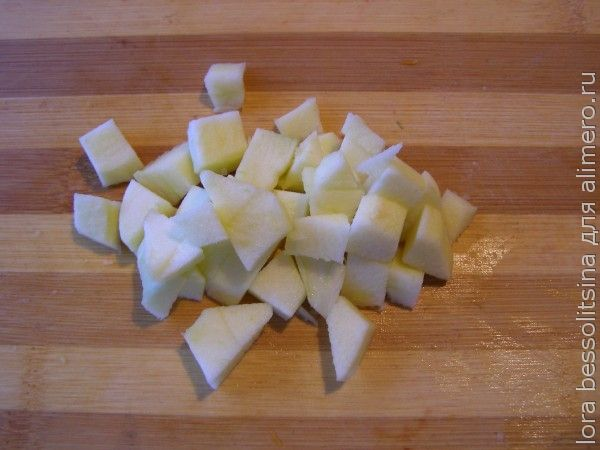 десерт фруктовый, яблоко