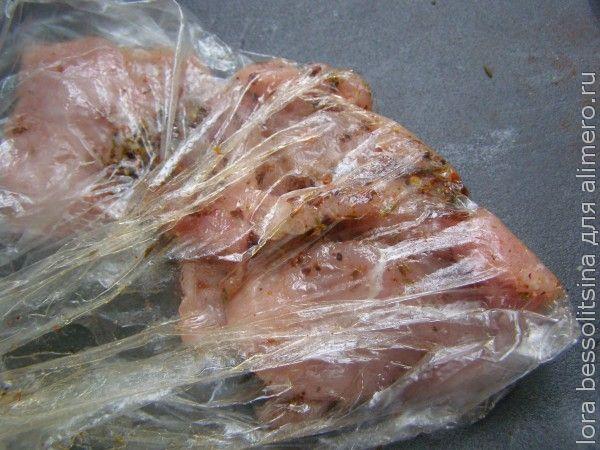 свинина с чипсами, в маринаде