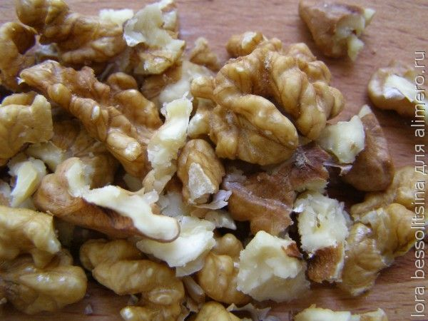 десерт для внука, орехи