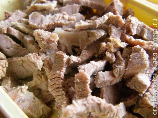 диетический салат, мясо