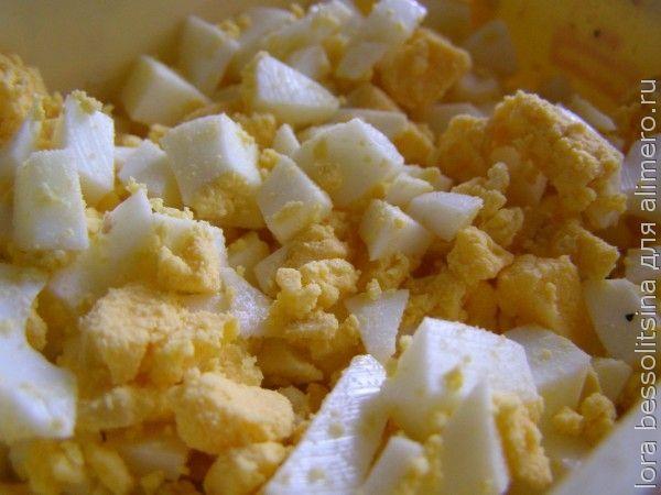диетический салат, яйца