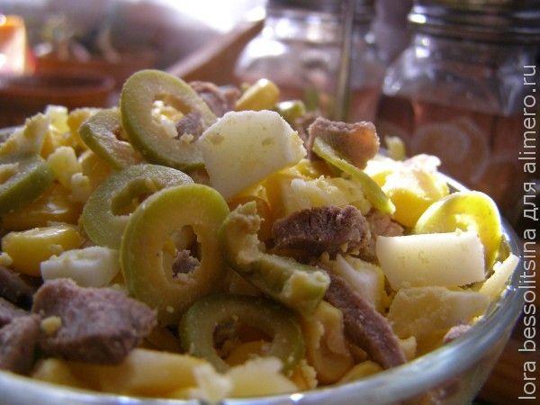 Зимние диетические салат