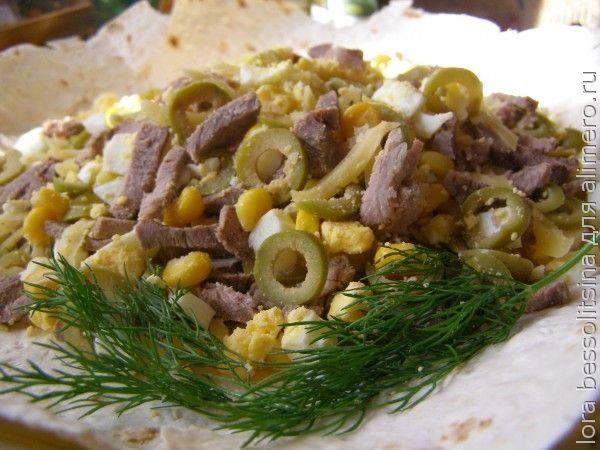 диетический салат, на лаваше