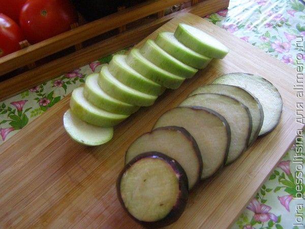 овощной шашлык, кабачки и баклажаны